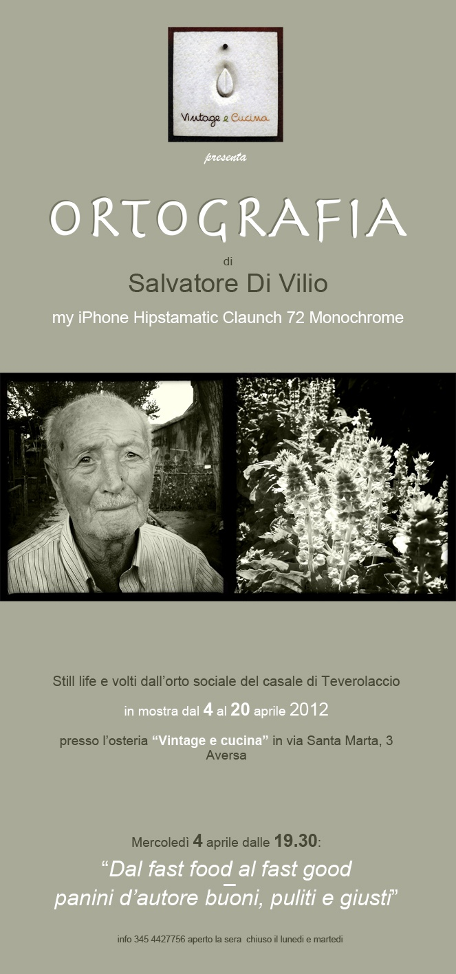 Ortografia, fotografie di Salvatore Di Vilio